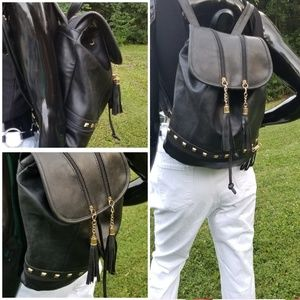 Black Studded Backpack